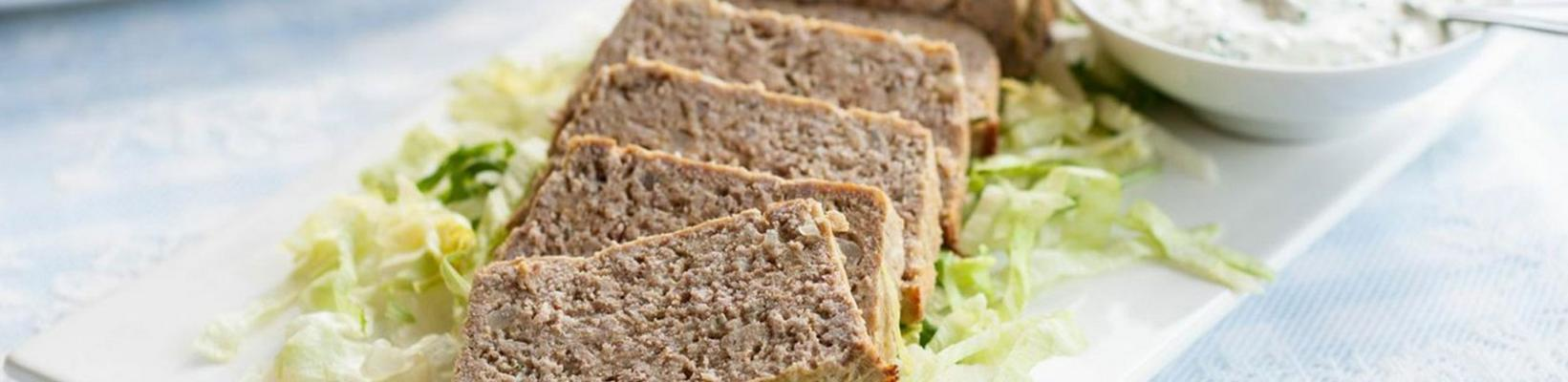 meatloaf with yoghurt sauce