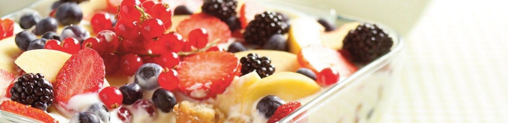 tiramisu with fruit