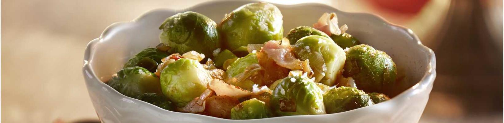 Brussels sprouts with shallots and bacon