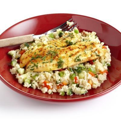 tilapia with couscous salad