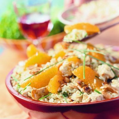 spanish rice salad with chicken and orange