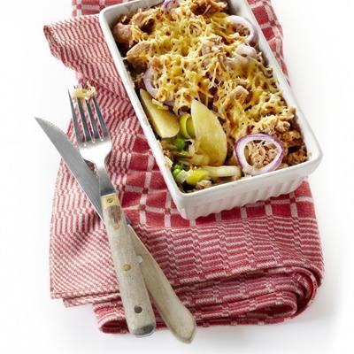 potato gratin with tuna