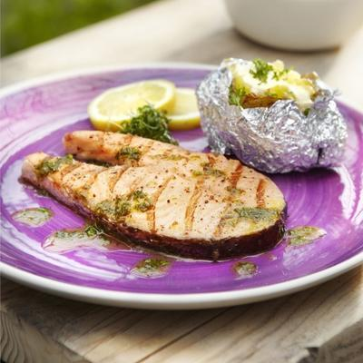 salmon with dill dressing
