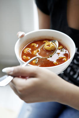 fast tomato soup with tortellini