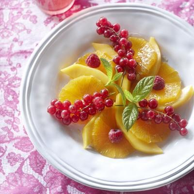 salad of orange and red fruit