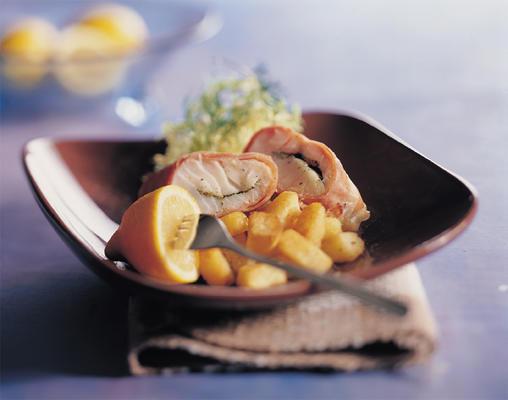 cod in raw ham