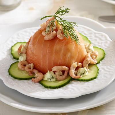 salmon bonbon with dill mayonnaise