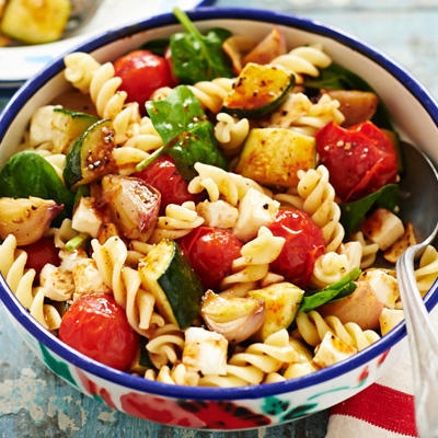 pasta salad with tomato balsamic dressing