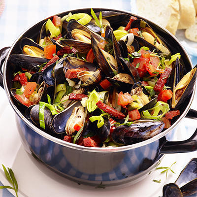 mussels in a spanish way