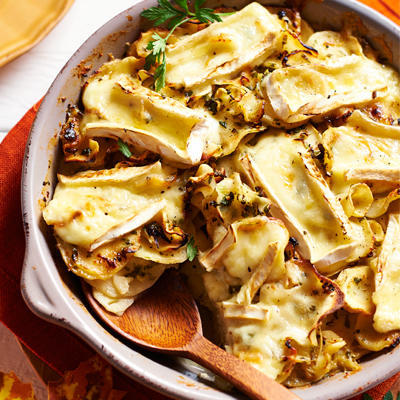 parsnip gratin with brie