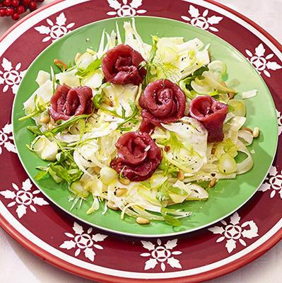 fennel salad with carpaccio