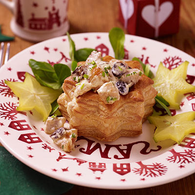 Christmas star with creamy chicken ragout