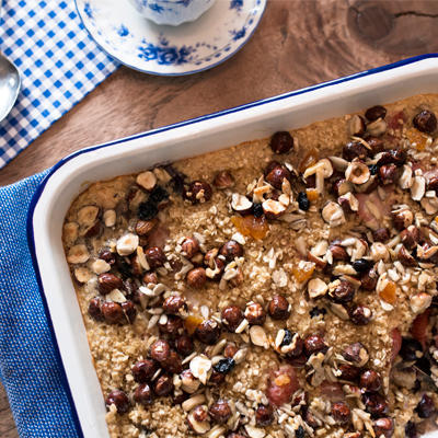 fruity oatmeal from the oven