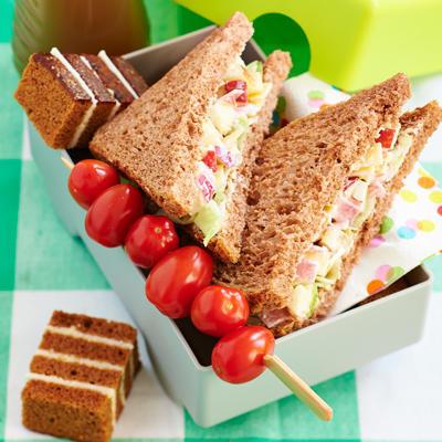 sandwich with ham-cheese salad