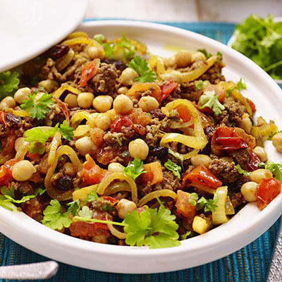 fast arab stew with chickpeas