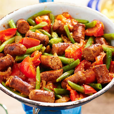 stew with merguez and green beans