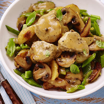 pork tenderloins with mushrooms and pepper sauce