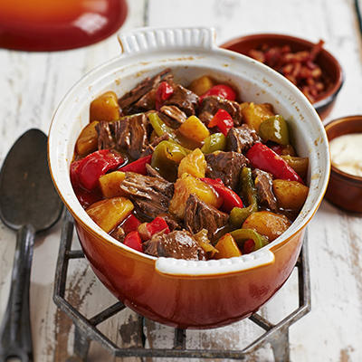 deliciously long stewed goulash