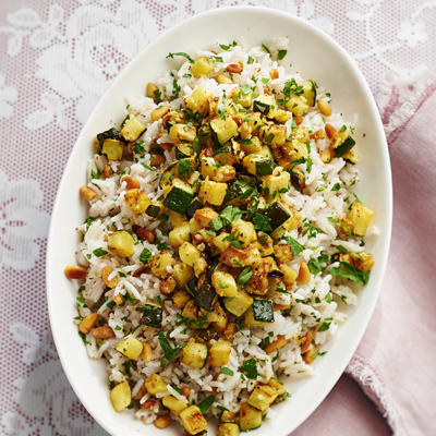 spice rice with zucchini