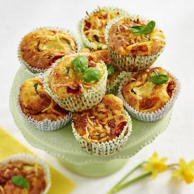 cheese muffins with green herbs