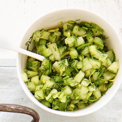 cucumber salsa with herbs