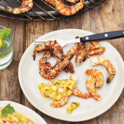spicy large prawns