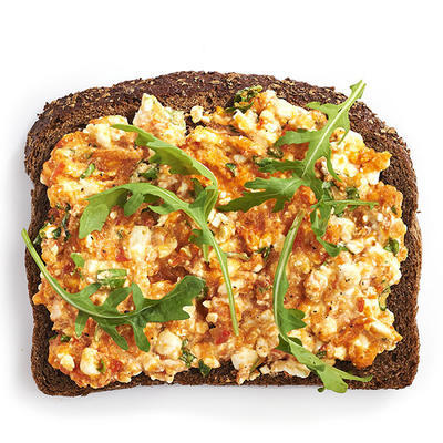 brown bread with pepper spread