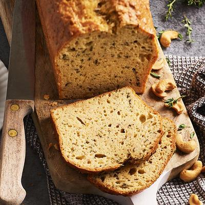 savory cashew nut bread