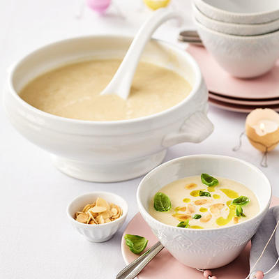 fennel soup with curry oil
