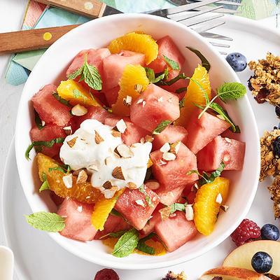watermelon salad with orange
