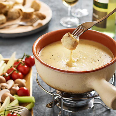 fondue of gruyere