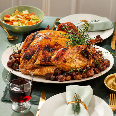 stuffed turkey with chestnuts