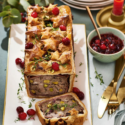 Christmas pâté and croûte