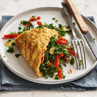 omelet with kale