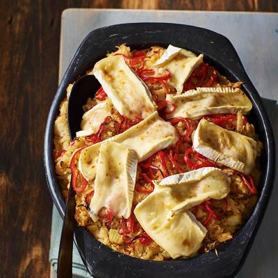 gratin sauerkraut stew with paprika