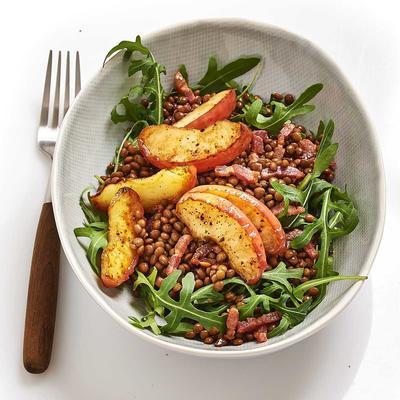 lentil salad with apple