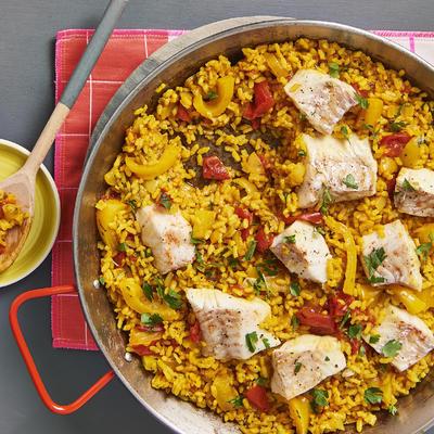 Spanish rice with cod