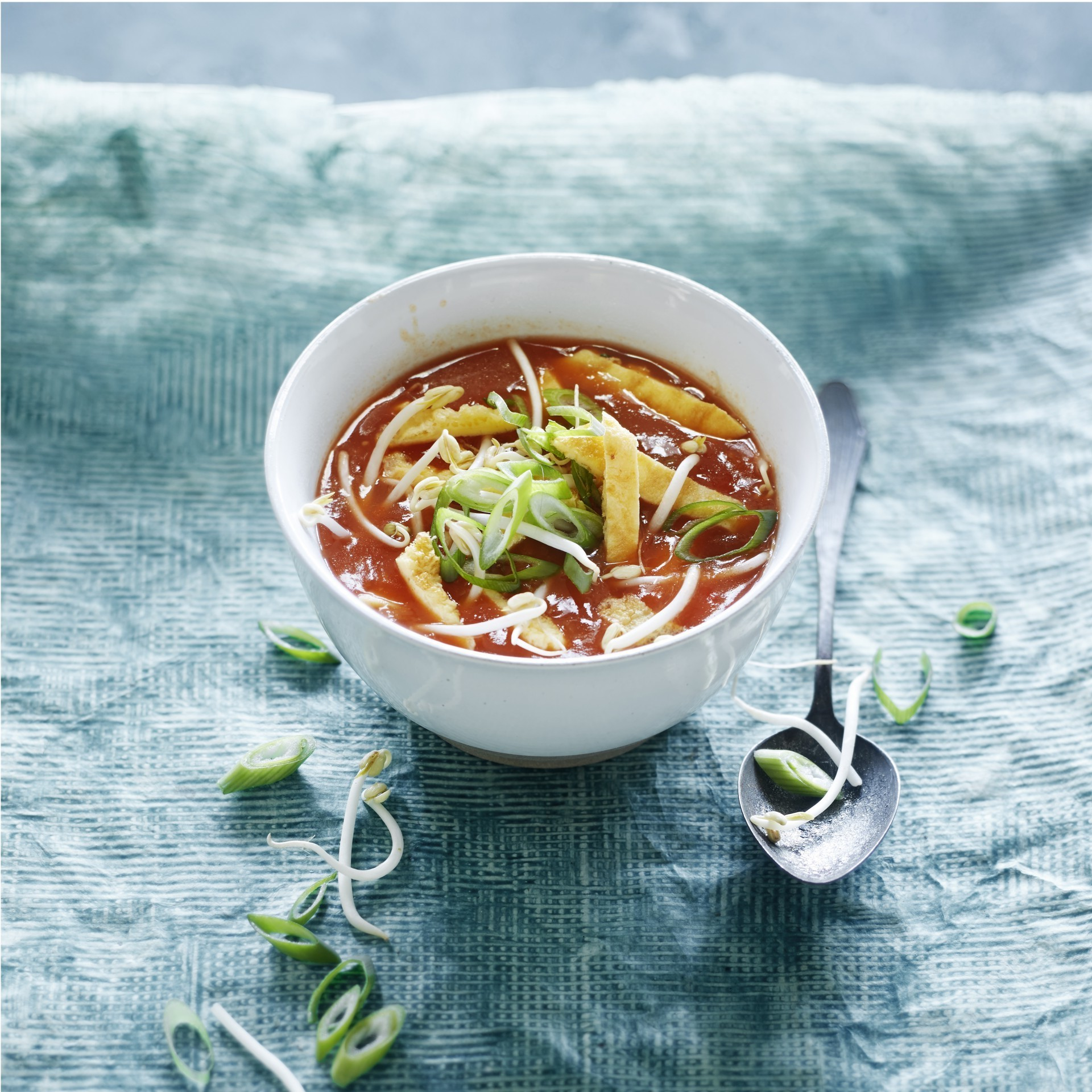 Sweet and sour chinese tomato soup