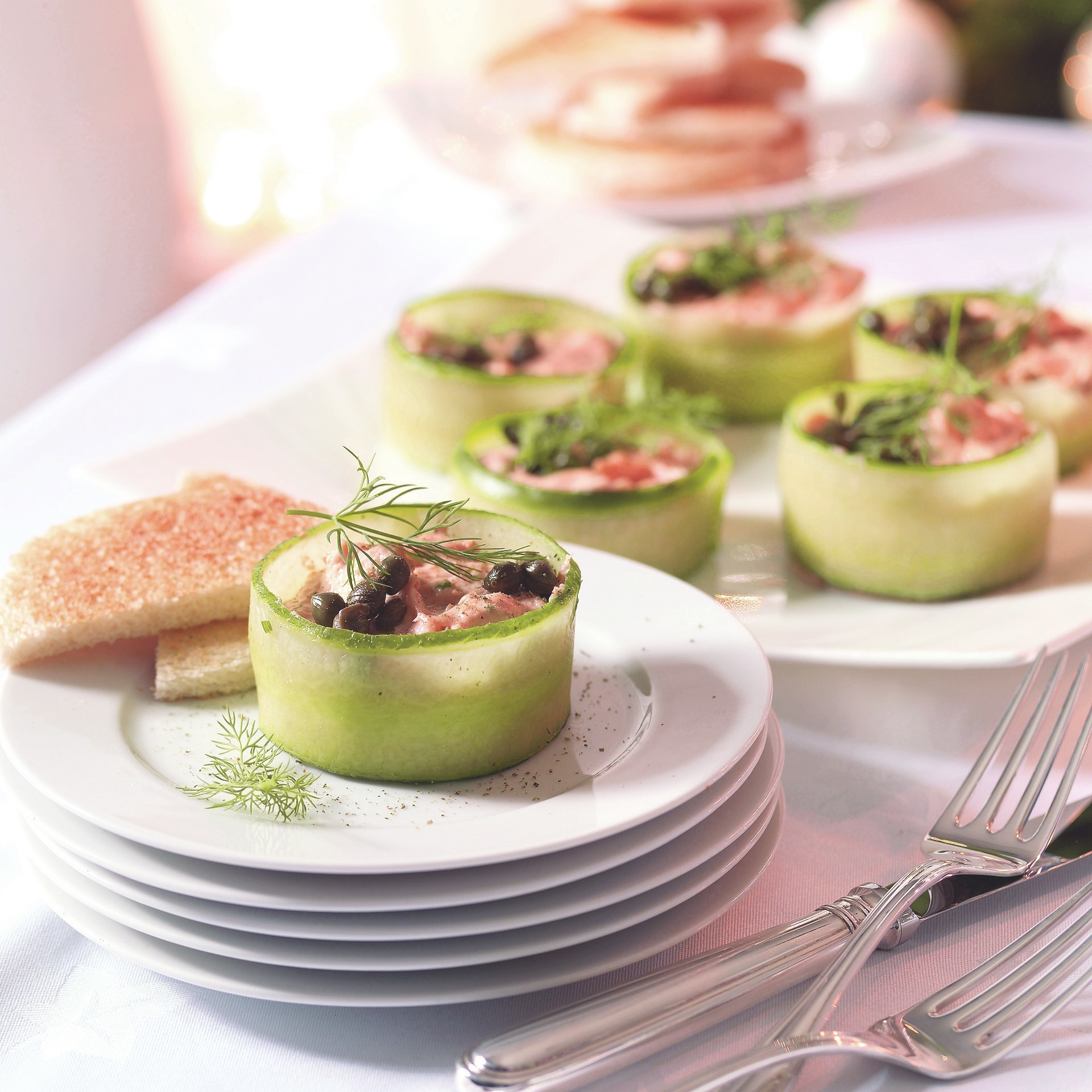 Tartlet of salmon mousse