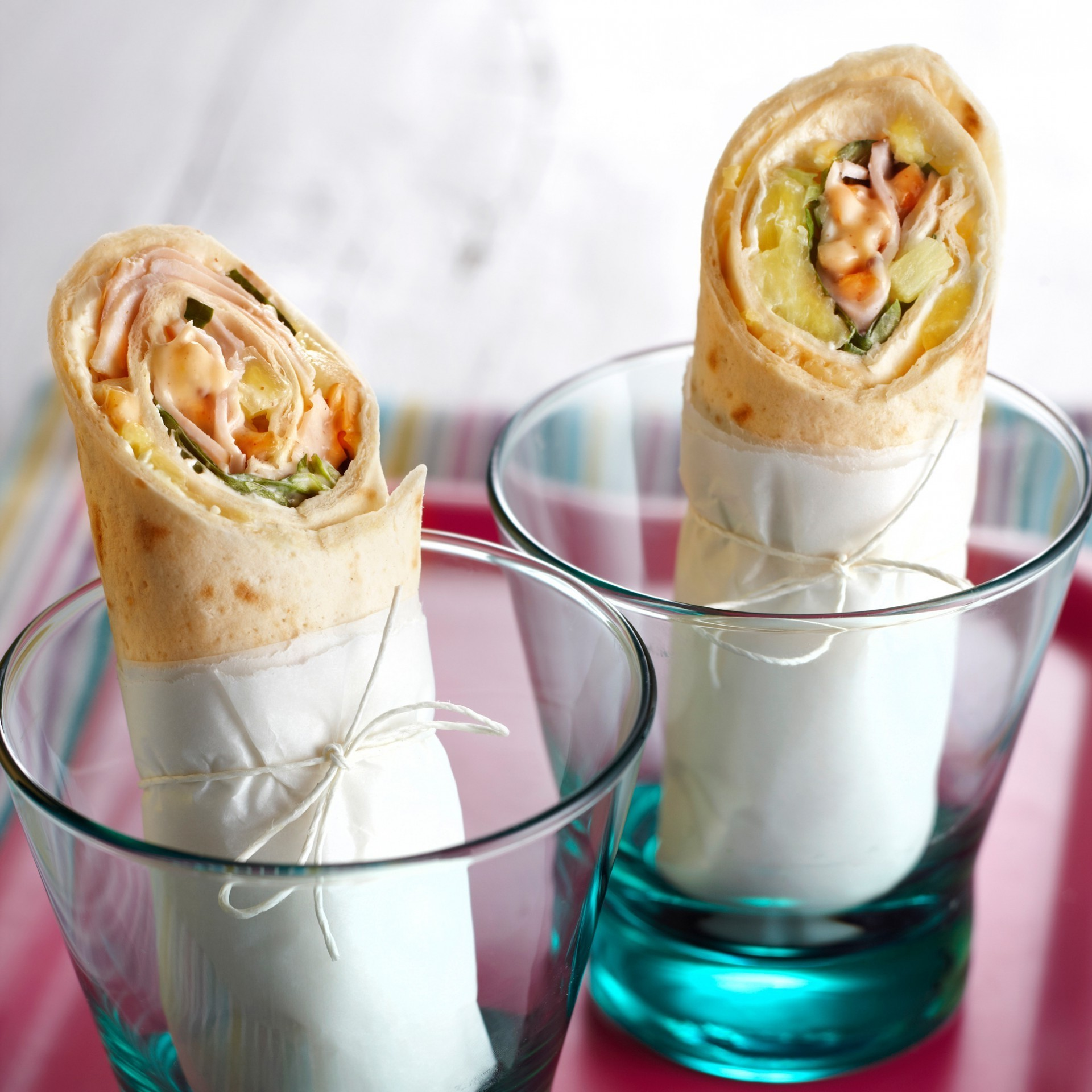 Chicken wrap with honey-nut dressing