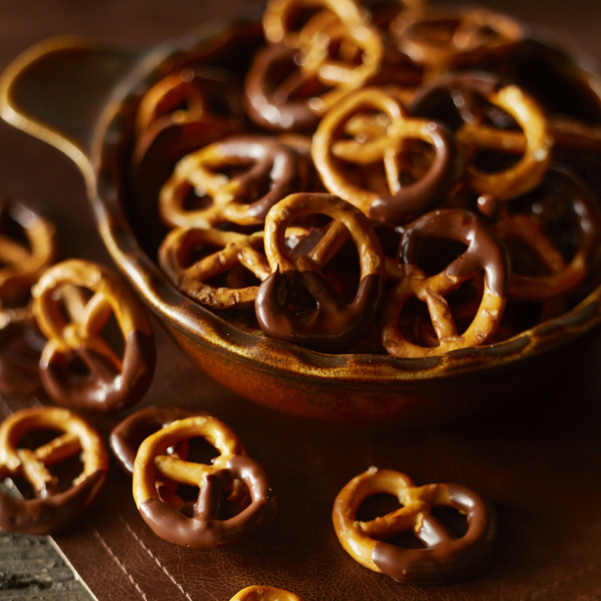 Pretzels with chocolate