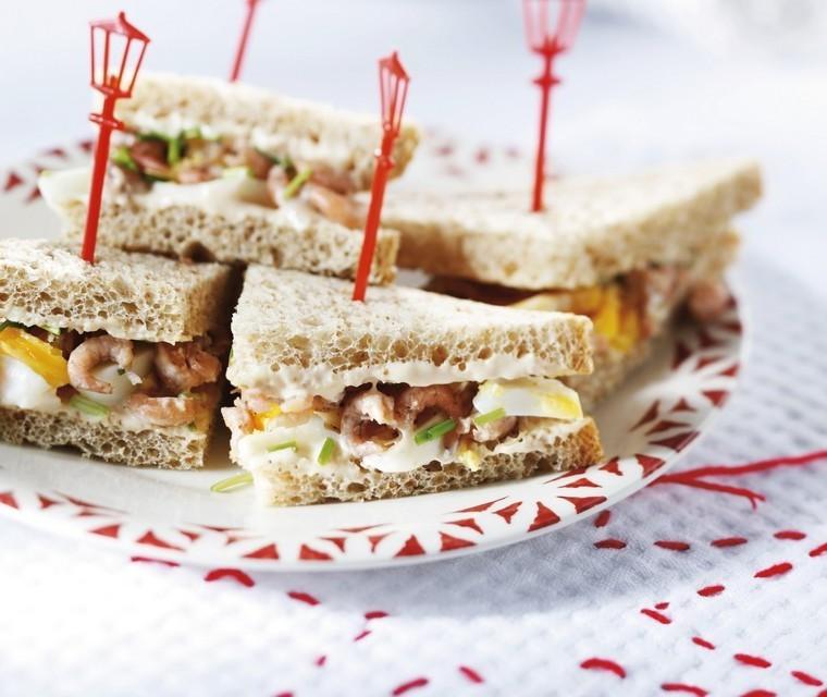 Sandwich with Dutch shrimps