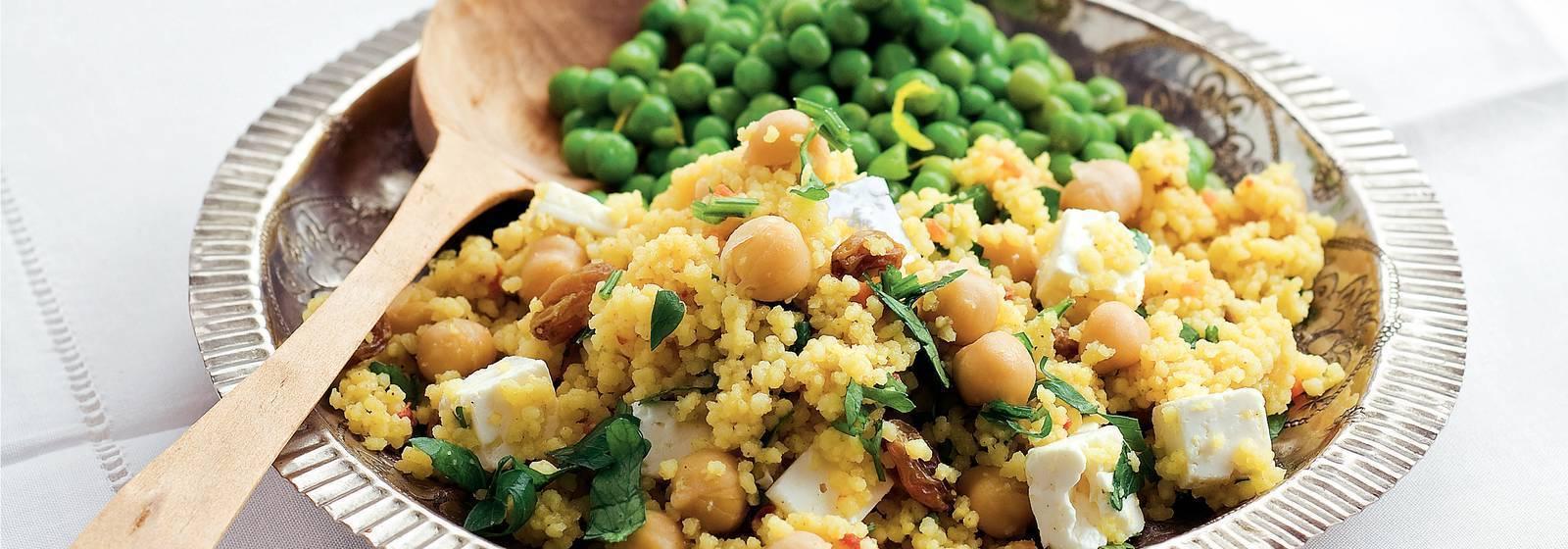 Couscous with garden peas