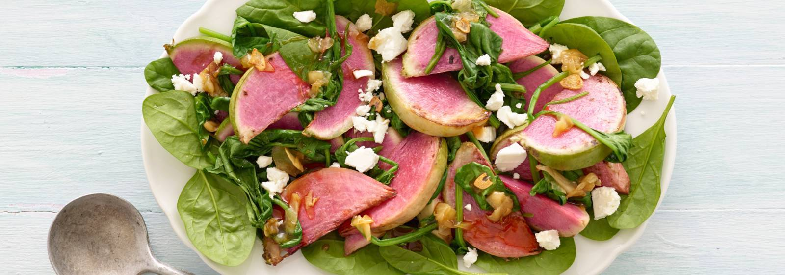 Stir-fried watermelon radish with ginger and honey
