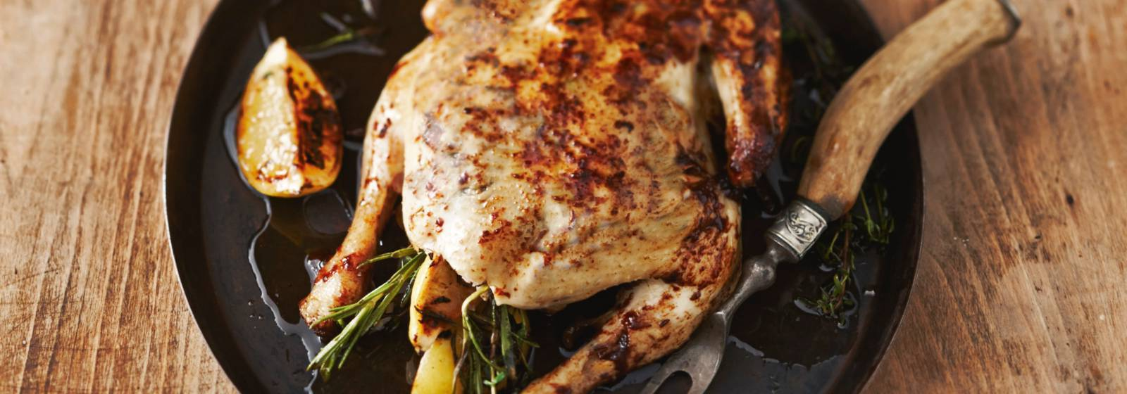Chicken stuffed with herbs and lemon