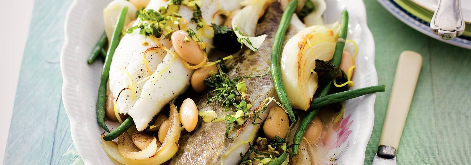 Cod fillet with haricots verts
