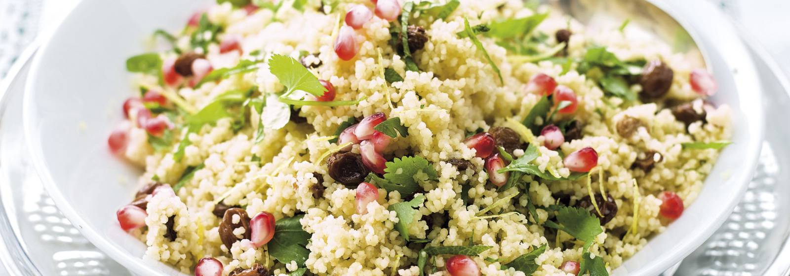 Herbal pomegranate couscous